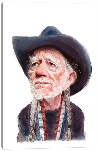 Willie Nelson Canvas Art Print