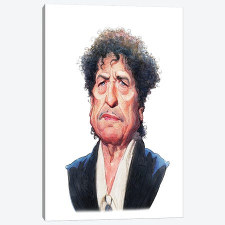 Bob Dylan Canvas Print #SDM25} by Stavros Damos Canvas Artwork