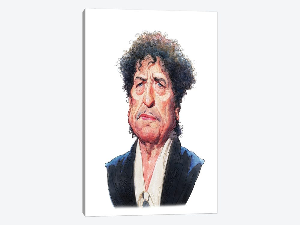 Bob Dylan by Stavros Damos 1-piece Canvas Wall Art