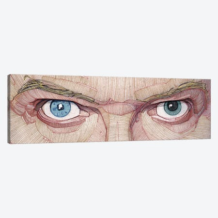 David Bowie Eyes Canvas Print #SDM2} by Stavros Damos Canvas Print