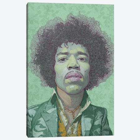 Hendrix Canvas Print #SDM6} by Stavros Damos Canvas Artwork