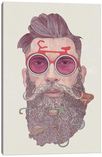 Hipster dude Canvas Art Print