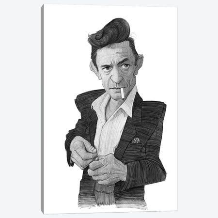 Johnny Cash Canvas Print #SDM8} by Stavros Damos Canvas Print