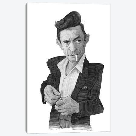 Johnny Cash Canvas Print #SDM8} by Stavros Damos Canvas Print