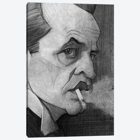 Klaus Kinski Canvas Print #SDM9} by Stavros Damos Art Print