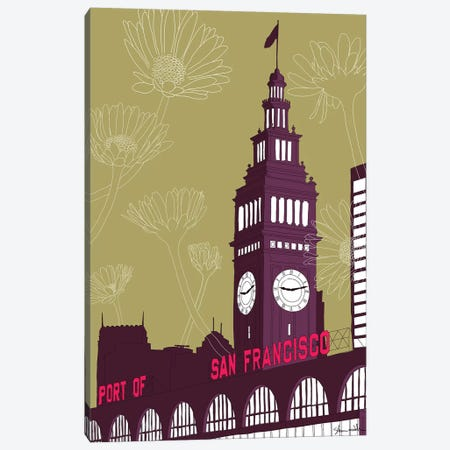 Ferry Building - San Francisco Canvas Print #SDN1} by Shane Donahue Canvas Art