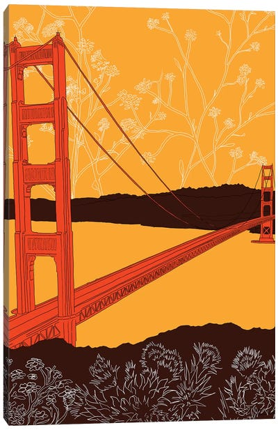 Golden Gate Bridge - Headlands Canvas Art Print