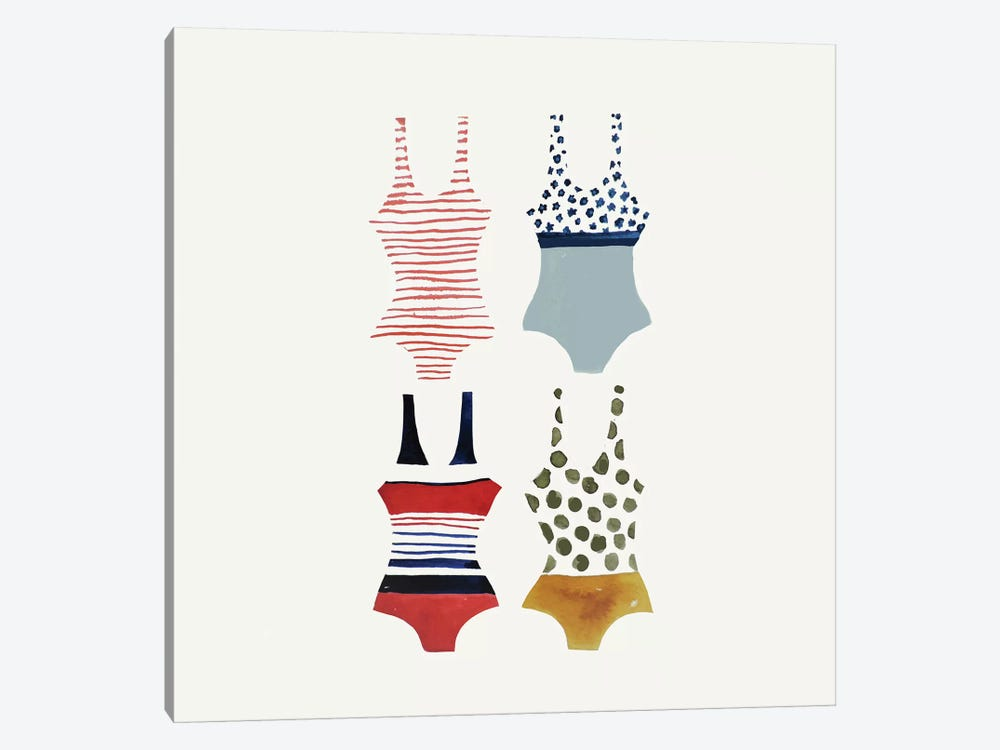 Bathing Suit by Sylvie Demers 1-piece Canvas Artwork
