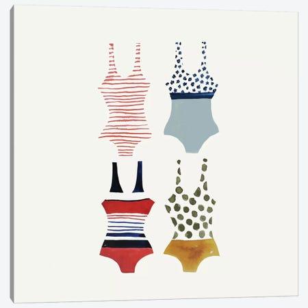 Bathing Suit Canvas Print #SDS107} by Sylvie Demers Art Print