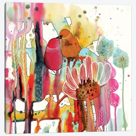 Cheek To Cheek Canvas Print #SDS115} by Sylvie Demers Canvas Artwork