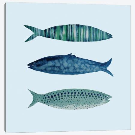 Fish 3-Piece Canvas #SDS126} by Sylvie Demers Art Print