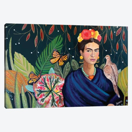 Frida Canvas Print #SDS128} by Sylvie Demers Canvas Artwork