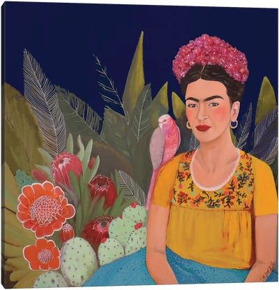 Frida A Casa Azul Revisitated Canvas Art Print