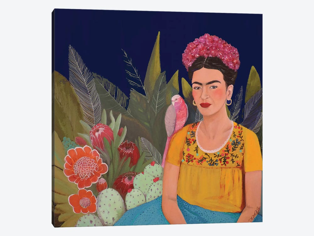 Frida A Casa Azul Revisitated by Sylvie Demers 1-piece Canvas Artwork
