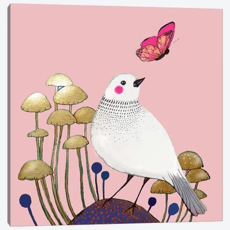 Le Petit Sentier Rose Canvas Print #SDS149} by Sylvie Demers Canvas Wall Art