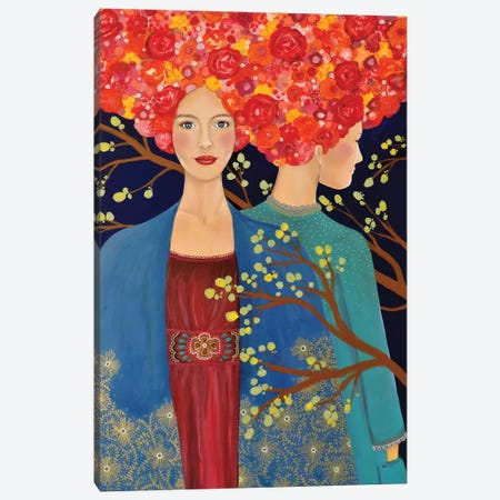Les Ames Soeurs Canvas Print #SDS150} by Sylvie Demers Canvas Art Print