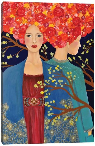 Les Ames Soeurs Canvas Art Print
