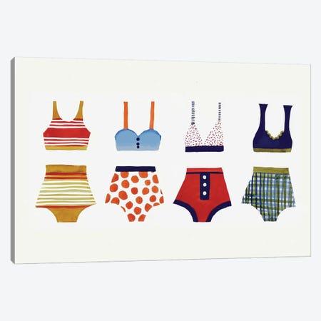 Les Bikinis Canvas Print #SDS151} by Sylvie Demers Canvas Art Print