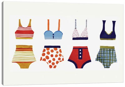 Les Bikinis Canvas Art Print