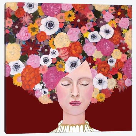 Mes Pensées Canvas Print #SDS166} by Sylvie Demers Art Print