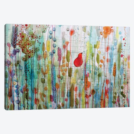 Une Ame Dans Le Jardin Canvas Print #SDS182} by Sylvie Demers Canvas Art