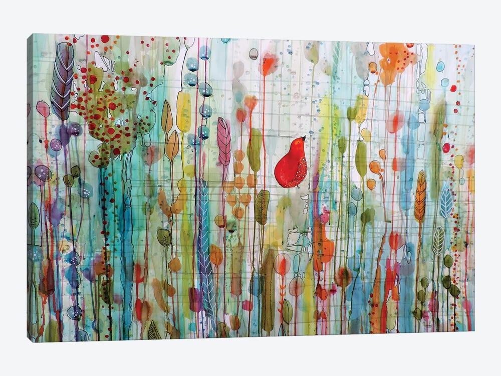 Une Ame Dans Le Jardin by Sylvie Demers 1-piece Canvas Print