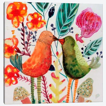 Le Baiser Canvas Print #SDS201} by Sylvie Demers Canvas Print