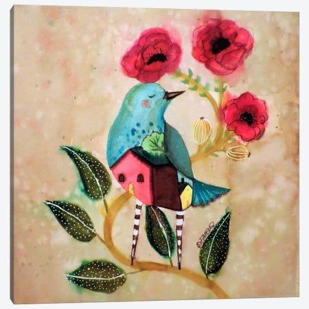 Les Pavots Canvas Print #SDS203} by Sylvie Demers Canvas Art Print
