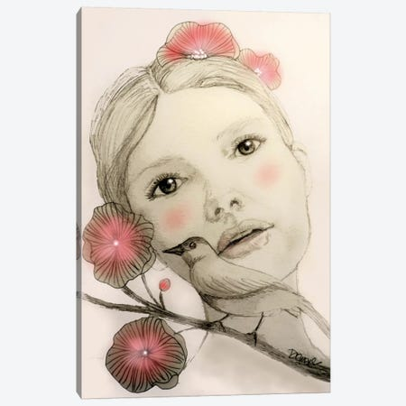 Melodie In Blush Canvas Print #SDS207} by Sylvie Demers Canvas Art