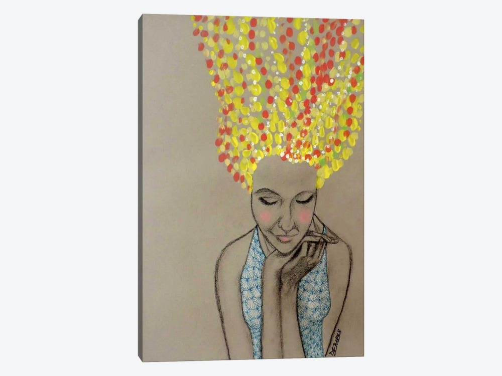 Miss Sunshine by Sylvie Demers 1-piece Canvas Print