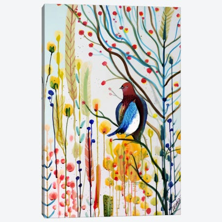 Sous Les Branches Canvas Print #SDS211} by Sylvie Demers Canvas Artwork