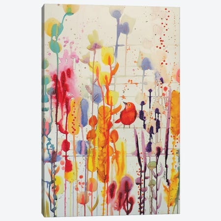 La Vie Comme Une Fete Canvas Print #SDS233} by Sylvie Demers Canvas Wall Art