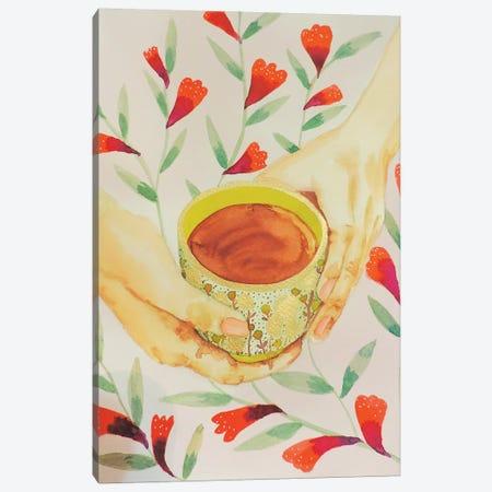 L'heure Du Thé Canvas Print #SDS238} by Sylvie Demers Canvas Art