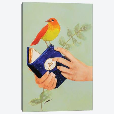 Livre De Joie Canvas Print #SDS240} by Sylvie Demers Canvas Art Print