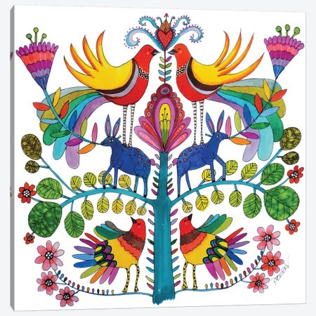 Otomi Love Canvas Print #SDS245} by Sylvie Demers Canvas Art