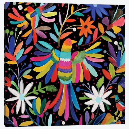 Pajaros Carre Canvas Print #SDS247} by Sylvie Demers Canvas Art