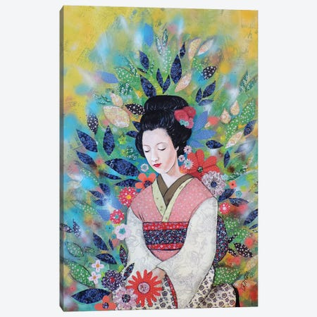 Toujours Maiko 3-Piece Canvas #SDS256} by Sylvie Demers Art Print