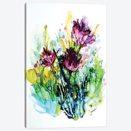 Certaines Fleurs Sont Des Chansons Canvas Print #SDS263} by Sylvie Demers Canvas Print