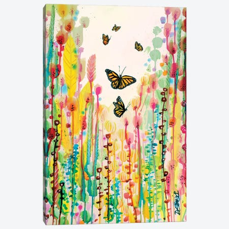 Cette Cage N'etait Qu'un Cocon Canvas Print #SDS264} by Sylvie Demers Canvas Wall Art