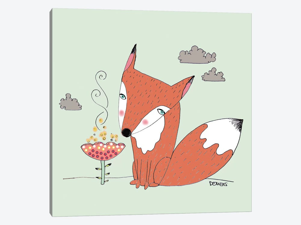 Un Renard Dans La Cours by Sylvie Demers 1-piece Canvas Artwork