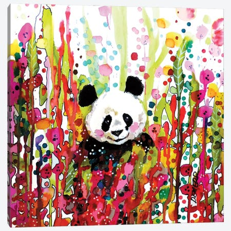 Panda Canvas Print #SDS293} by Sylvie Demers Canvas Wall Art