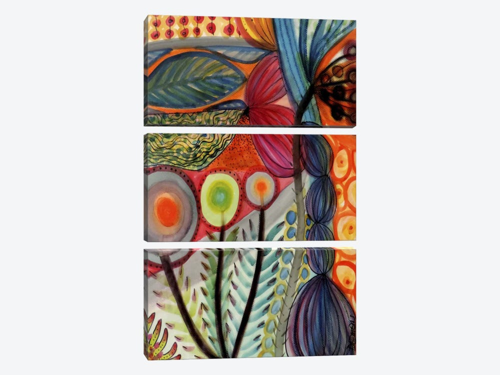 Vivaces by Sylvie Demers 3-piece Canvas Wall Art