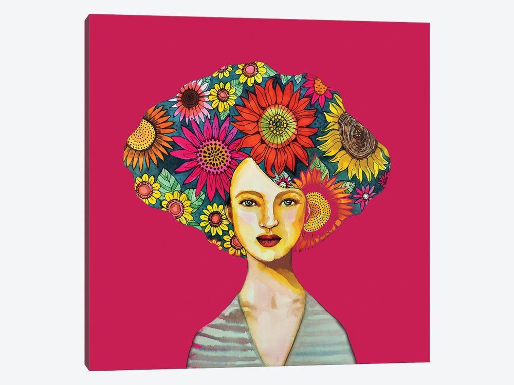 Tournesols (Fushia)Jpg by Sylvie Demers 1-piece Art Print