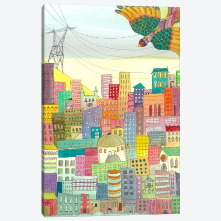 Ma Ville Canvas Print #SDS47} by Sylvie Demers Canvas Art