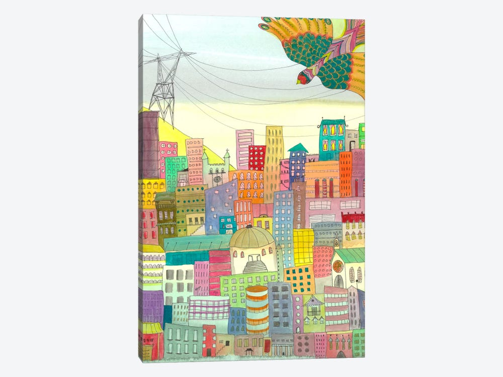 Ma Ville by Sylvie Demers 1-piece Canvas Wall Art