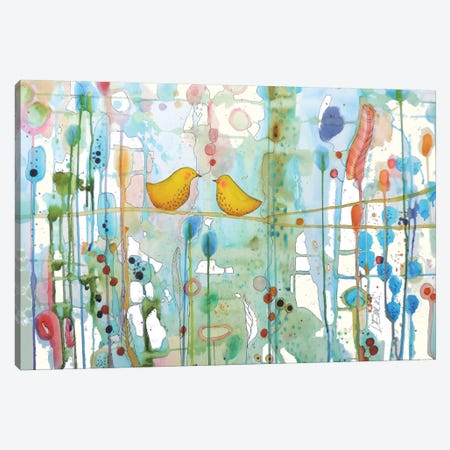 Dans Chaque Coeur Canvas Print #SDS70} by Sylvie Demers Canvas Art