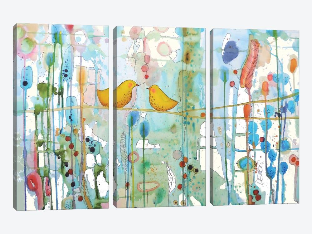 Dans Chaque Coeur by Sylvie Demers 3-piece Canvas Artwork
