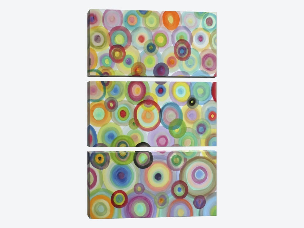 Bulles by Sylvie Demers 3-piece Canvas Wall Art