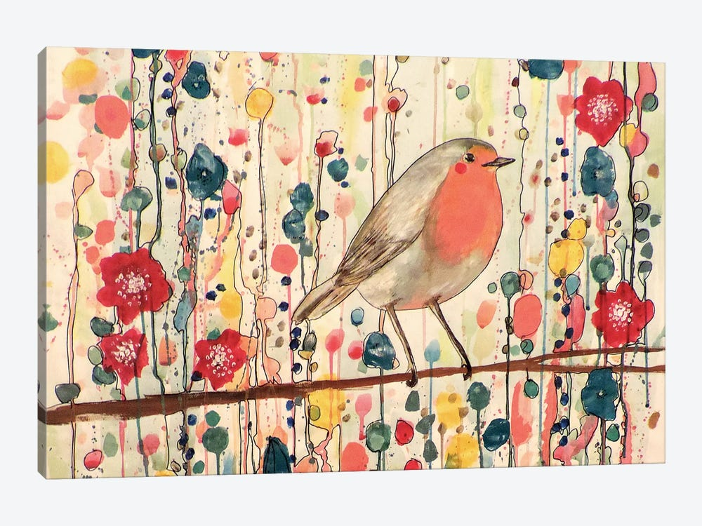 Je Ne Suis Pas Qu'Un Oiseau (In Zoom) by Sylvie Demers 1-piece Canvas Wall Art