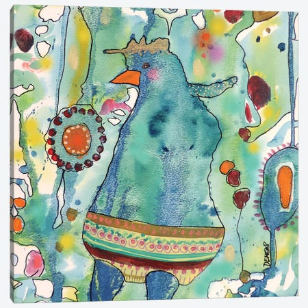 Ma Poule Canvas Print #SDS88} by Sylvie Demers Canvas Art Print